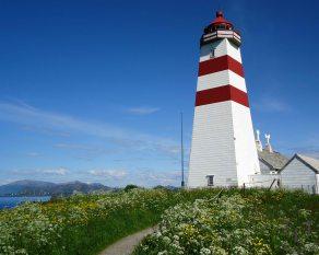 Alnes Lighthouse in Alesund, Norway.